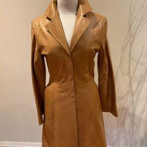 Leather Mackage coat size S-XS cognac colour